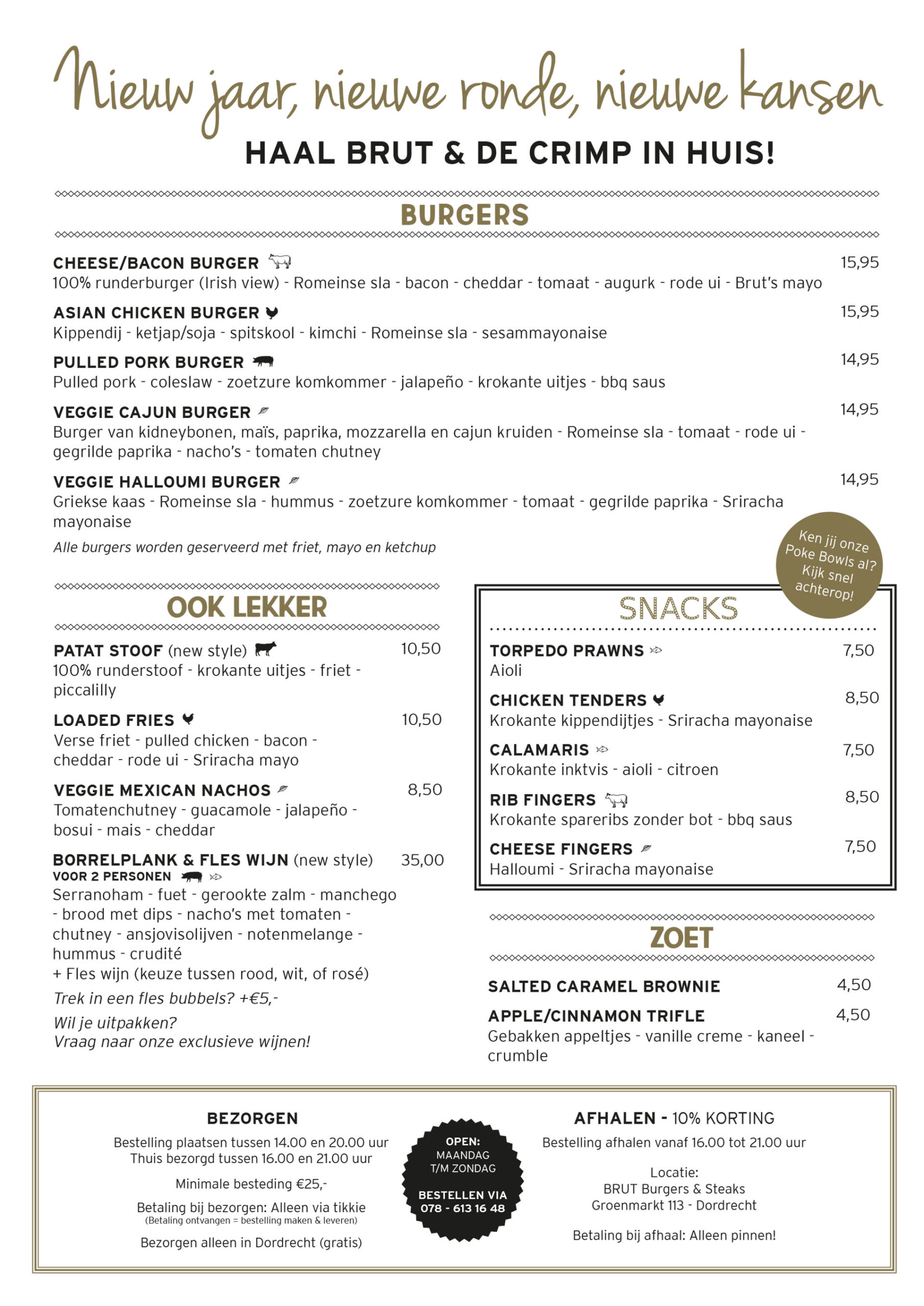 De Crimp & BRUT Support Ons Menu